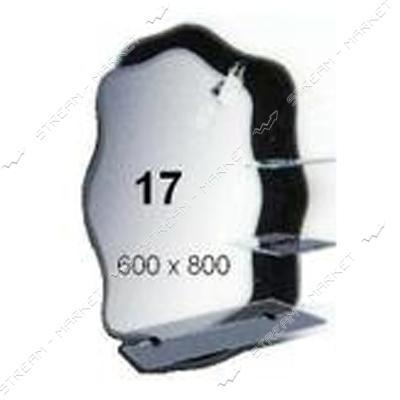Фацет зеркало - (17) (600*800мм, 3 полка) с одним отверстием под светильники (без светильников)