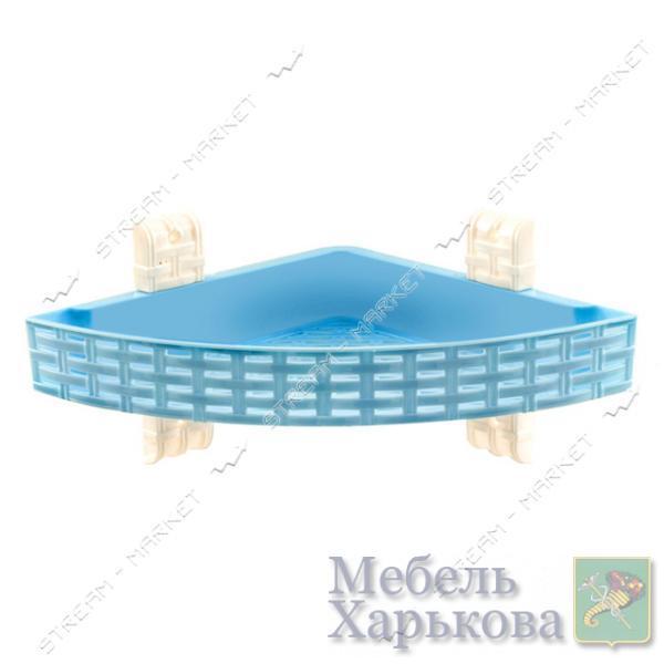 Полка угловая 1 ярус для ванной комнаты цвета в ассорт. - Полки и этажерки для ванных комнат в Харькове