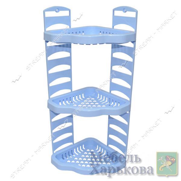 Угловая полка в ванную Агро голубая - Полки и этажерки для ванных комнат в Харькове