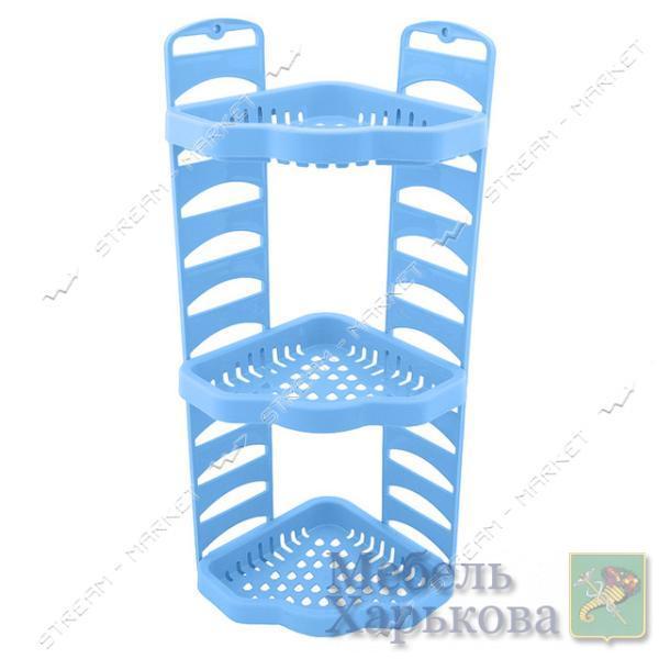 Угловая полка в ванную Роса голубая - Полки и этажерки для ванных комнат в Харькове