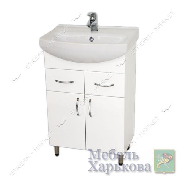 Тумба для ванной комнаты белая Церсания 55/2 умывальник Церсания 55 - Тумбы под раковину в Харькове