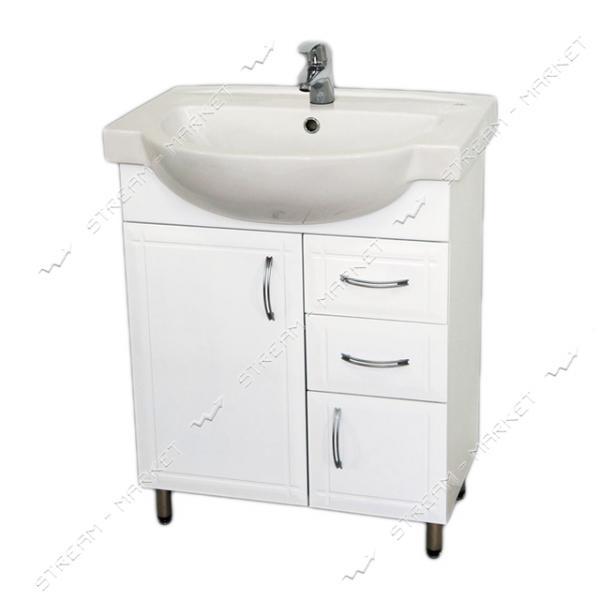 Тумба для ванной комнаты белая Акцент 65/2 умывальник Акцент 65