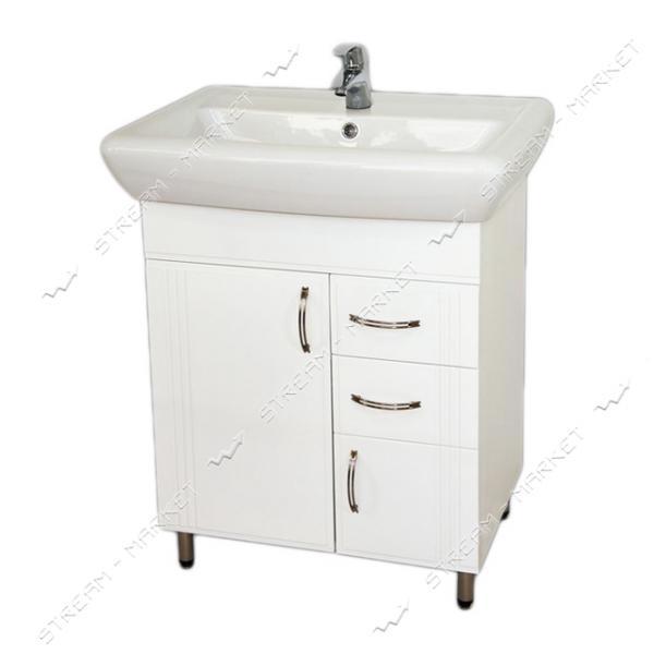 Тумба для ванной комнаты белая Ирида Ади 70/2 умывальник Ирида 70