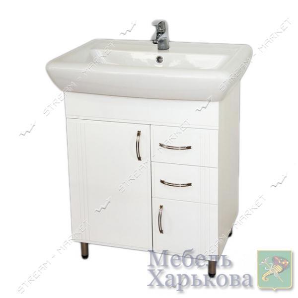 Тумба для ванной комнаты белая Ирида Ади 70/2 умывальник Ирида 70 - Тумбы под раковину в Харькове
