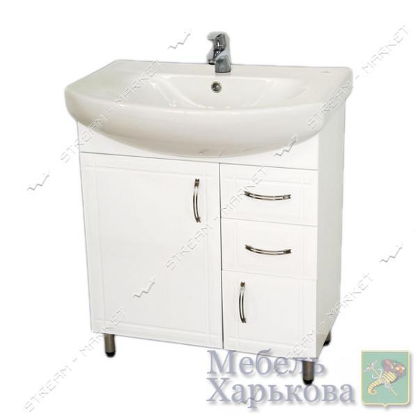 Тумба для ванной комнаты белая Лотос 70/2 умывальник Лотос 70 - Тумбы под раковину в Харькове