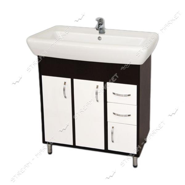 Тумба для ванной комнаты венги Ирида Венги 70/2 умывальник Ирида 70