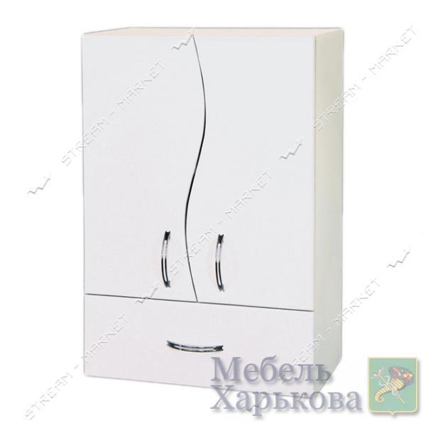 Шкаф для ванной комнаты белый навесной 35 Волна - Шкафы и пеналы для ванных комнат в Харькове