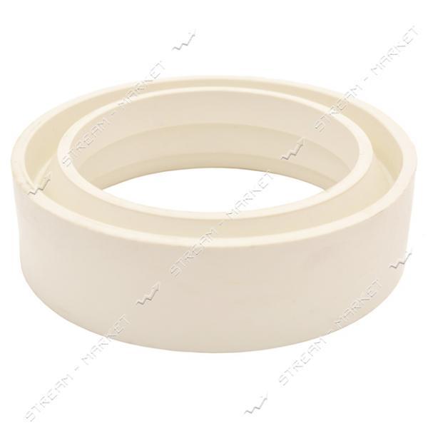 Кольцо между унитазом и бачком резина белая F (завод)
