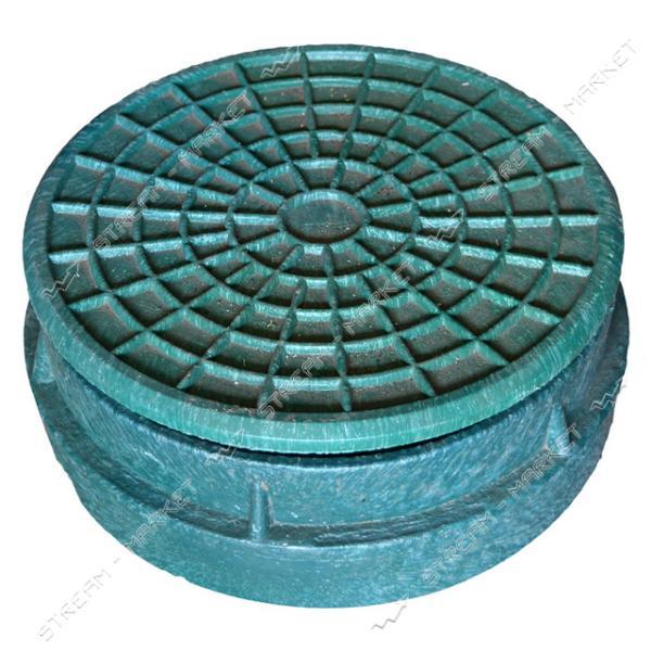 Крышка для люка 'Garden' полимерпесчаная d.315 зел.