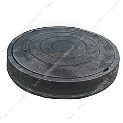 Люк ' Garden' полимерпесчаный черный 1, 8 т. ( выс 60мм вн/нар 590/720)