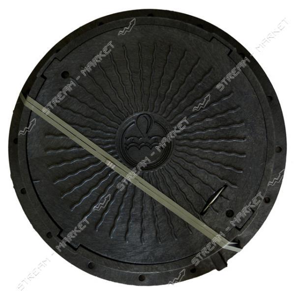 Люк ' Акведук' полимерный черный 6т б/з ( вн/нар. 600/750)