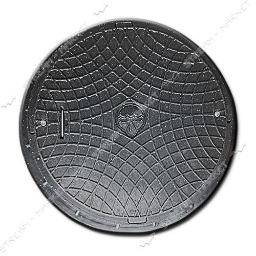 Люк ' Акведук' полимерный черный 6т замок ( вн/нар. 600/750)