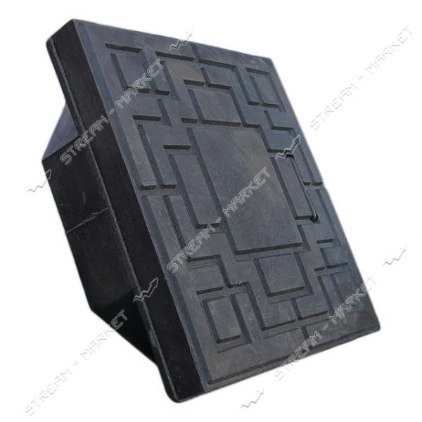 Люк смотровой квадрат 300*300 черный (размер крышки 330*330мм, высота люка h-85мм)