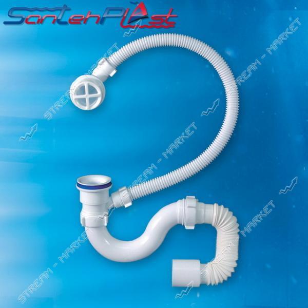 STP SV-01 Сифон для ванны с пластиковым выпуском с переливом