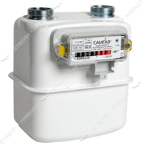 Газовый счетчик САМГАЗ мембранный G2.5 RS/2001-2P d20
