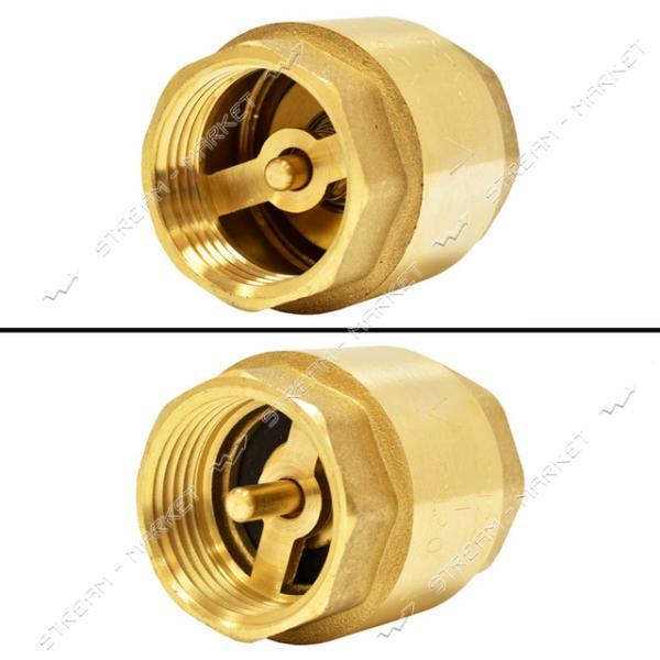 Обратный клапан для воды 1 1/4' латунный шток