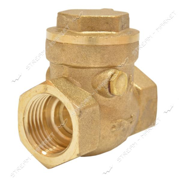 Обратный клапан 1/2' лепестковый горизонтальный 'Хлопушка'