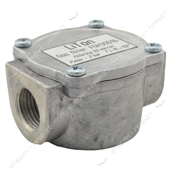 Фильтр газовый 1/2'В алюминиевый LITON