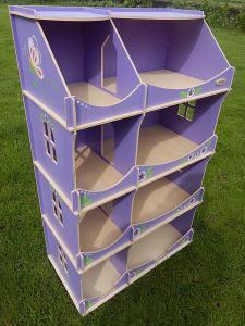 Фото  Кукольный домик-шкаф с росписью (сиреневый)