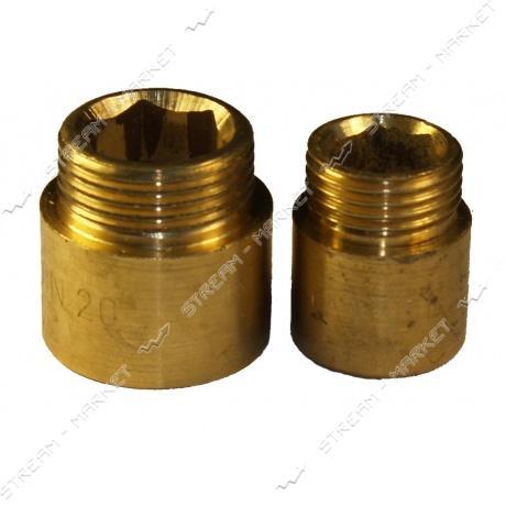 Удлинитель латунный 3/4'х20мм N0790.в