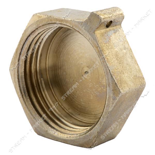 Заглушка латунная 1'В RS Люкс никелированная