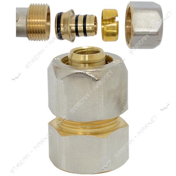 Муфта для металлопластиковых труб 20х3/4'В разборная