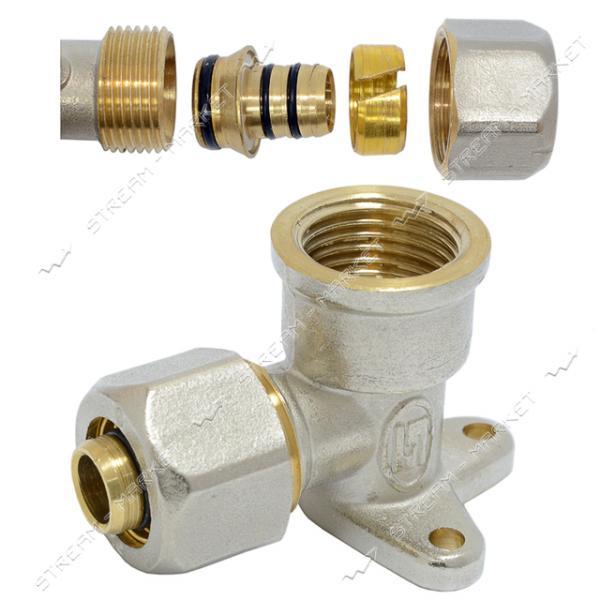 Угол для металлопластиковых труб 20х1/2'В разборной монтажный