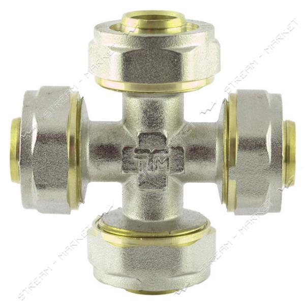 Крестовина для металлопластиковых труб 16х16