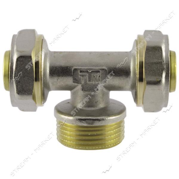 Тройник для металлопластиковых труб 20х1/2'Нх20