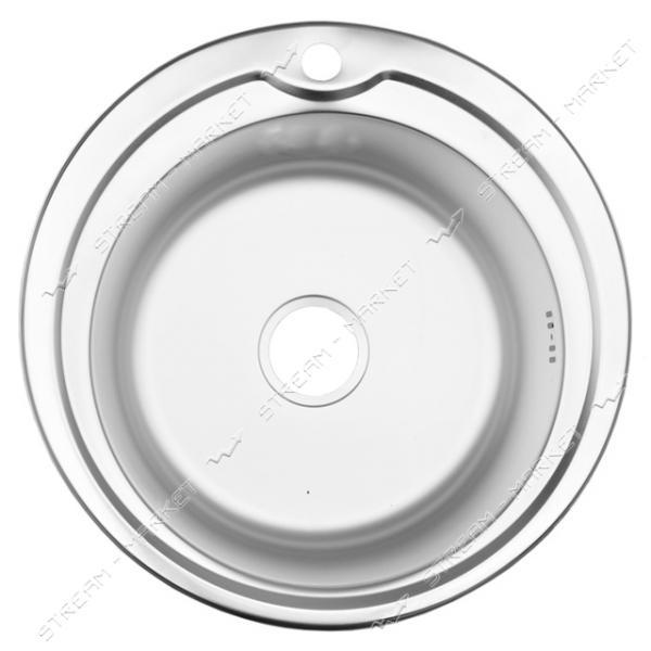 Мойка врезная d 51 глянец (большой сифон, гл.чаши 16-18 см, толщина 0, 6 мм)