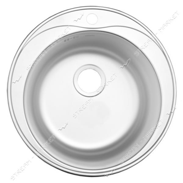 Мойка врезная d 51 декор (большой сифон, гл.чаши 16-18 см, толщина 0, 6 мм)
