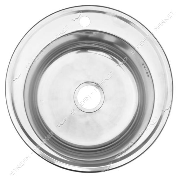 Мойка врезная d 51 матовая (большой сифон, гл.чаши 16-18 см, толщина 0, 6 мм)