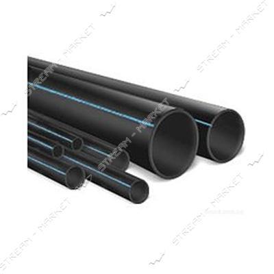 Труба ПНД d25 черная с синей полосой PN6 Акведук (DanaPlast) (200м)