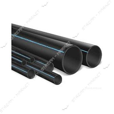 Труба ПНД d32 черная с синей полосой PN6 Акведук (DELTA) (200м)