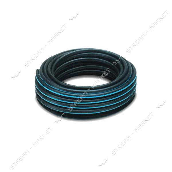 Труба ПНД d63 черная с синей полосой PN6 (100м)