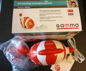 Фото Небулайзеры Небулайзер ингалятор компрессорный Gamma Nemo