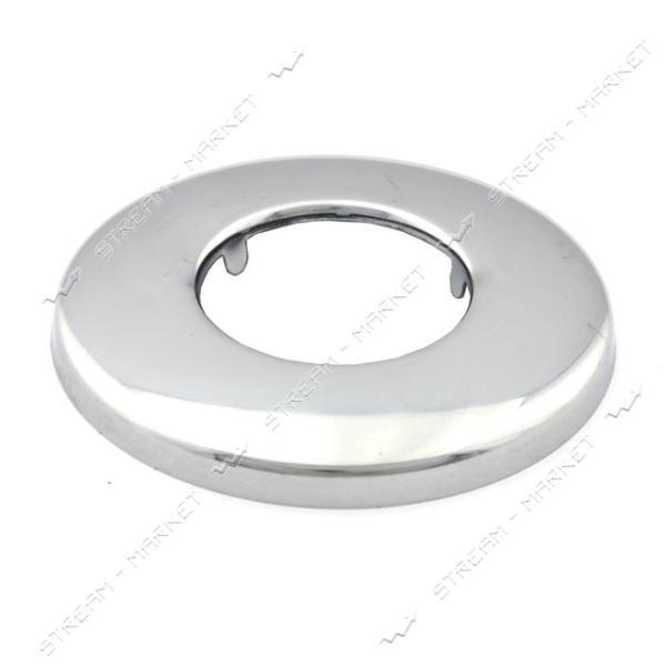 Чашка-декор для эксцентрика смесителя 1' плоская d.70 мм (Нержавейка)(глуб. 7 мм) ZQ-13