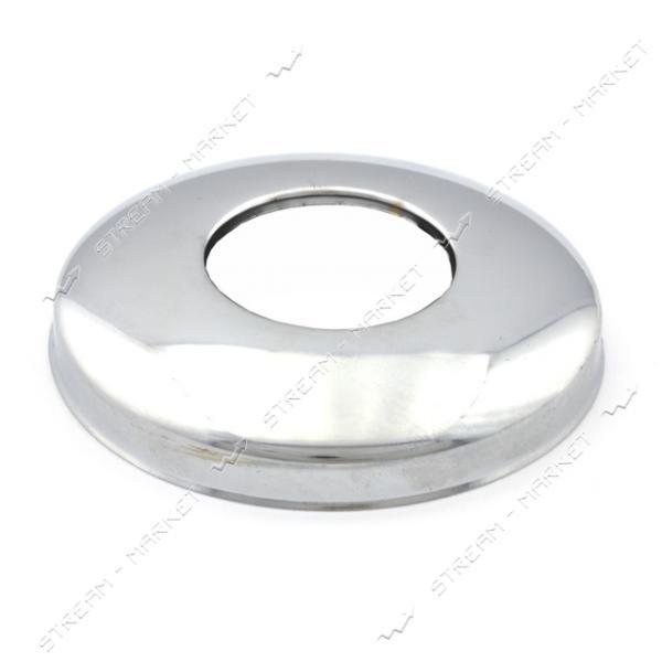 Чашка-декор для эксцентрика смесителя 1' плоская d.75 мм (Нержавейка)(глуб. 15 мм) ZQ-12
