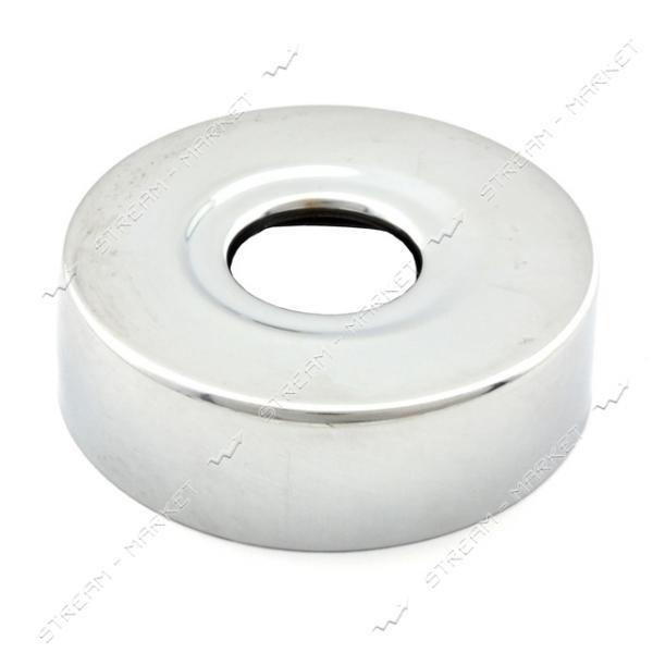 Чашка-декор для эксцентрика смесителя 1/2' d.60мм (Нержавейка)(глуб. 18 мм) ZQ-05