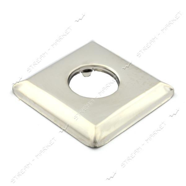 Чашка-декор для эксцентрика смесителя 1/2' квадратная d.50 мм (Нержавейка)(глуб. 7 мм) CQH-1