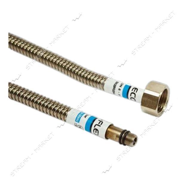 Шланг для подключения воды к смесителю сильфонный 100см М10х1/2'В ECO-FLEX