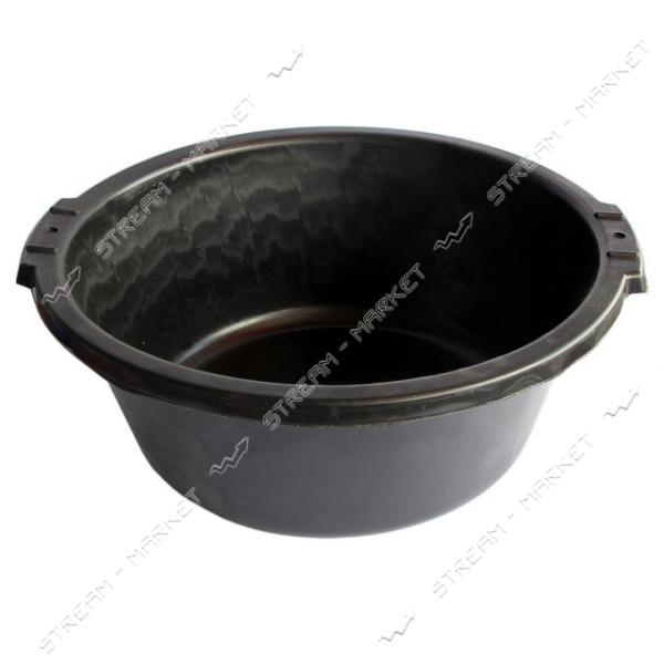 Таз круглый не пищевой 12л черный