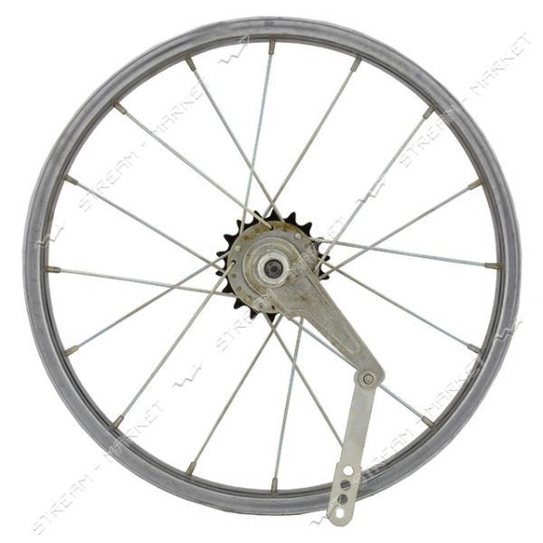 Колесо заднее d 16 на велосипед (с втулкой)