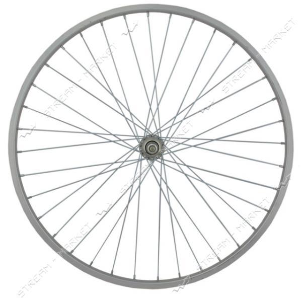 Колесо заднее d 26 на велосипед (с втулкой, одинарный обод) спорт