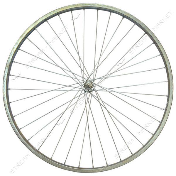 Колесо переднее d 28 на велосипед (втулка, спица, стакан, обод)