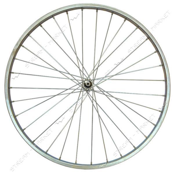Колесо переднее усиленное d 28 на велосипед (втулка, спица, стакан, обод)