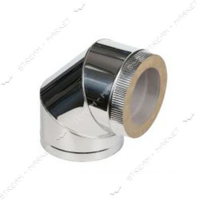 Отвод нержавейка утепленный (базальт) d 130/190*90