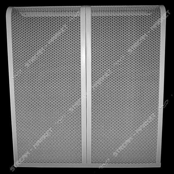 Экран декоративный металлический на радиатор 670мм