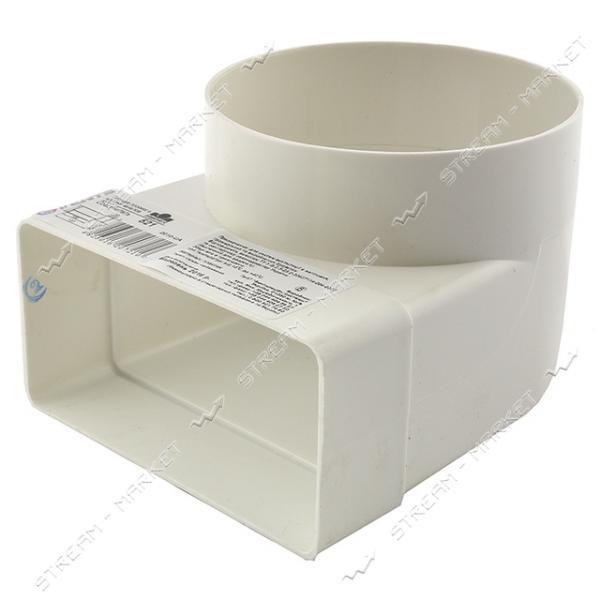 VENTS Колено вентиляционное 55x110 d100мм 521
