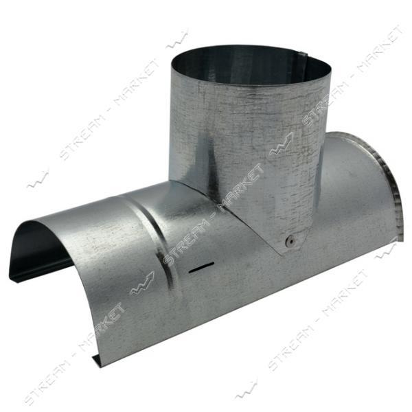 Воронка глухая оцинкованная 120 под трубу d100